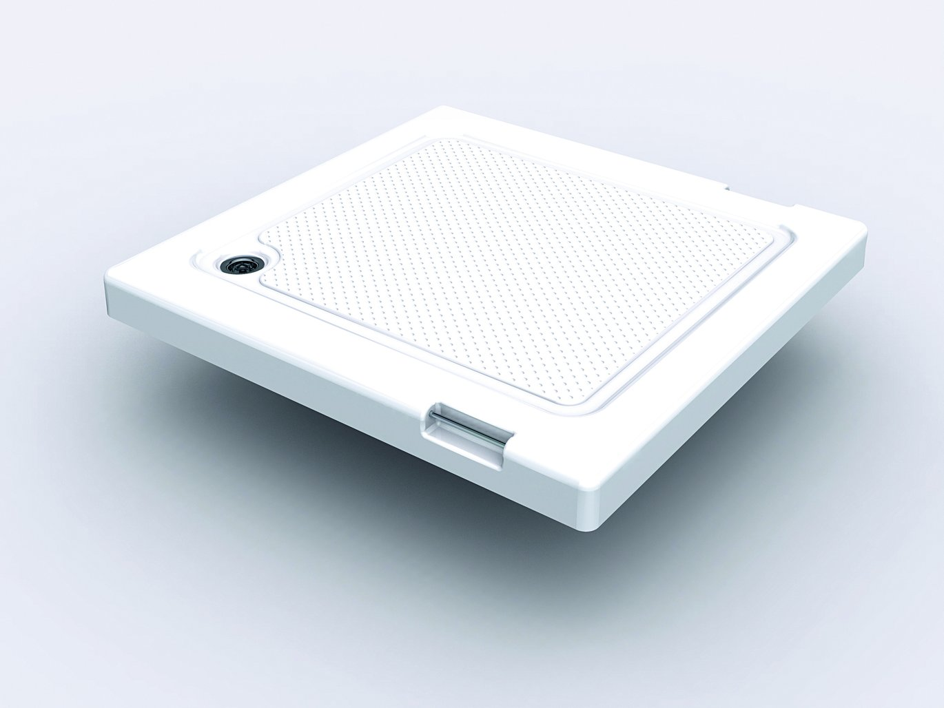 Lid as shower tray with non-slip coating
