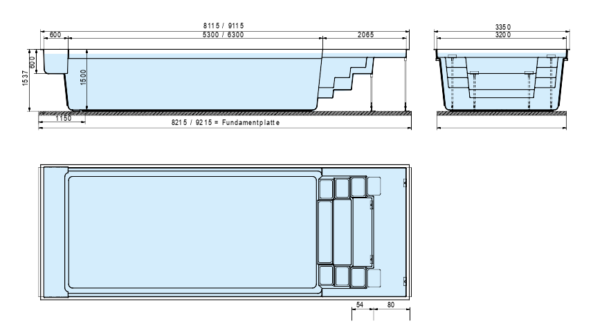 Pool Technical Drawing